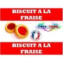e-liquide saveur biscuit à la fraise10mL